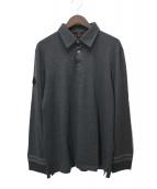 LOUIS VUITTON(ルイヴィトン)の古着「ウール長袖ポロシャツ」|グレー