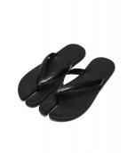 Maison Martin Margiela22(メゾンマルタンマルジェラ)の古着「足袋カーフレザーサンダル」|ブラック