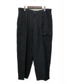 The Stylist Japan(ザスタイリストジャパン)の古着「LINEN WIDE BAKER PANTS」 ブラック