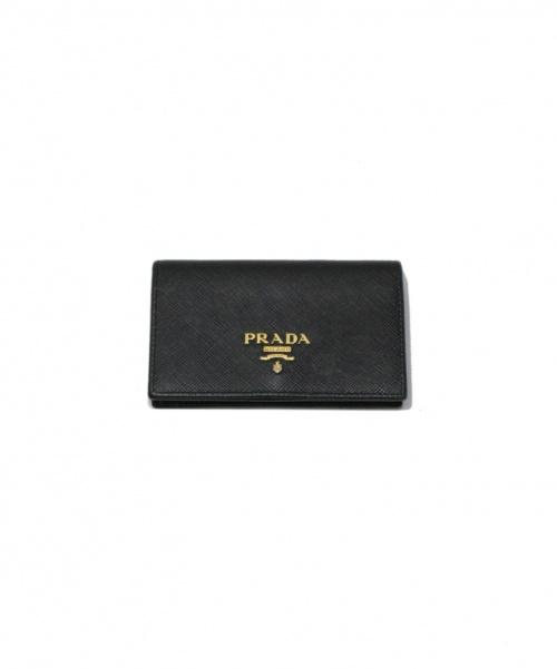 PRADA(プラダ)PRADA (プラダ) カードケース ブラック 1MC122の古着・服飾アイテム