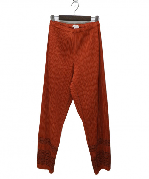 PLEATS PLEASE(プリーツプリーズ)PLEATS PLEASE (プリーツプリーズ) プリーツジョガーパンツ オレンジ サイズ:2 PP73-JF603の古着・服飾アイテム
