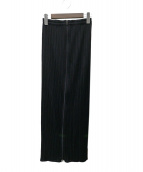 PLEATS PLEASE(プリーツプリーズ)の古着「フルジッププリーツロングスカート」|ブラック