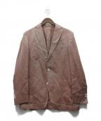 BOGLIOLI(ボリオリ)の古着「DOVERシルク混テーラードジャケット」 レッド