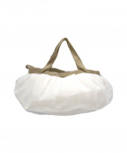 HIROKO HAYASHI(ヒロコ ハヤシ)の古着「FABREハンドバッグ」 ホワイト