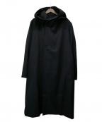 YohjiYamamoto pour homme(ヨウジヤマモトプールオム)の古着「ウールギャバローブコート」|ブラック