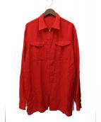 YS for men(ワイズフォーメン)の古着「オールドシャツジャケット」 レッド
