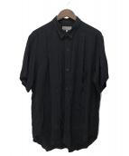 YohjiYamamoto pour homme(ヨウジヤマモトプールオム)の古着「レーヨンデザインシャツ」|ブラック
