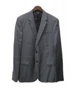 VALENTINO(バレンティノ)の古着「ストライプテーラードジャケット」|グレー