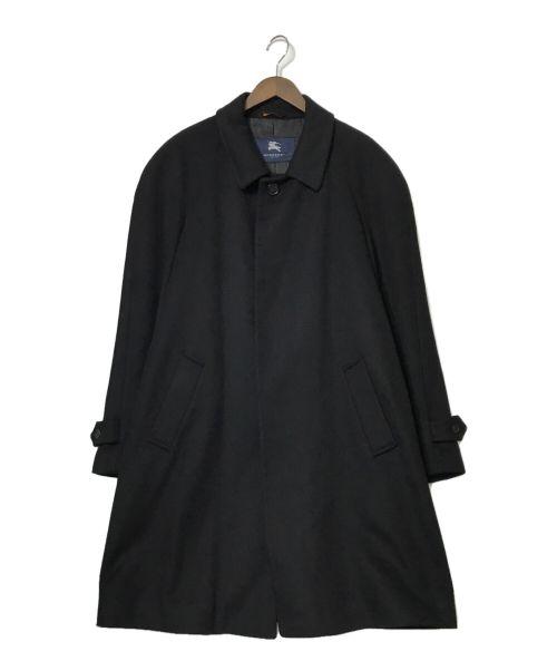 BURBERRY LONDON(バーバリー ロンドン)BURBERRY LONDON (バーバリー ロンドン) カシミアステンカラーコート ブラック サイズ:42の古着・服飾アイテム