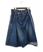 JUNYA WATANABE CdG MAN PINK(ジュンヤワタナベマンピンク)の古着「変形デニムラップスカート」|インディゴ