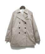 KUMIKYOKU(クミキョク)の古着「C/Nyギャバショートトレンチコート」|ベージュ