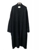 ARGUE(アギュー)の古着「モヘアニットガウン」|ブラック