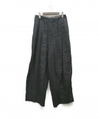 ARGUE(アギュー)の古着「リネンワイドサルエルパンツ」|ブラック