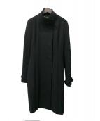 LAUTRE AMONT(ロートレアモン)の古着「スタンドカラーカシミヤロングコート」 ブラック