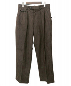 RAINMAKER(レインメーカー)の古着「ECO SUEDE WIDE TROUSERS」|ブラウン