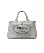 PRADA(プラダ)の古着「デニムカナパ2WAYトートバッグ」 グレー