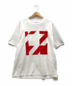 ANREALAGE(アンリアレイジ)の古着「ロゴプリントTシャツ」|ホワイト