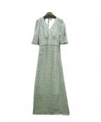 U by SPICK&SPAN(ユー バイ スピック&スパン)の古着「20SS フレアスリーブドレス」 黄緑