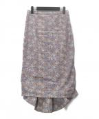 U by SPICK&SPAN(ユー バイ スピック&スパン)の古着「20SS  フラワーマーメイドスカート」 ピンク