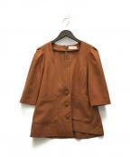 U by SPICK&SPAN(ユー バイ スピック&スパン)の古着「20SS  アシメデザインジャケットブラウス」 ブラウン