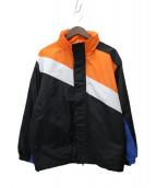 X-LARGE(エクストララージ)の古着「PANELED ZIP JACKET」|ブラック×オレンジ