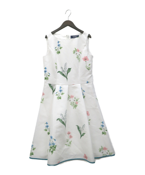MS GRACY(エムズグレイシー)MS GRACY (エムズグレイシー) 花柄ノースリーブワンピース ホワイト サイズ:40の古着・服飾アイテム