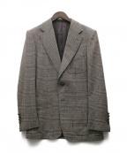 SOVEREIGN(ソブリン)の古着「ウールカシミヤ混テーラードジャケット」|ブラウン