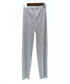 PLEATS PLEASE(プリーツプリーズ)の古着「パンツ」|ライトグレー