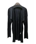 ISSEY MIYAKE(イッセイミヤケ)の古着「プリーツカーディガン」|ブラック