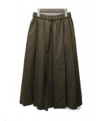 LE GLAZIK(ルグラジック)の古着「ウールプリーツスカート」|オリーブ