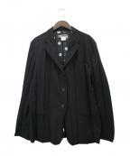ISSEY MIYAKE WHITE LABEL(イッセイミヤケホワイトレーベル)の古着「プリーツジャケット」 ブラック