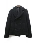 tricot COMME des GARCONS(トリココムデギャルソン)の古着「ツイードPコート」|ブラック