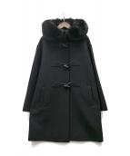 MAX MARA STUDIO(マックスマーラストゥディオ)の古着「Virgin Wool ダッフルコート」|ブラック