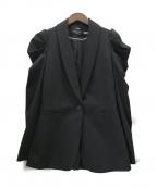 alice+olivia(アリスアンドオリビア)の古着「デザインショルダージャケット」 ブラック