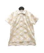 TAO COMME des GARCONS(タオ コムデギャルソン)の古着「花柄半袖ポロシャツ」|ベージュ