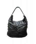 ()の古着「ツイストレザーワンショルダーバッグ」|ブラック