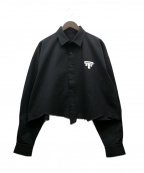 ADER error(アーダーエラー)の古着「カットオフシャツジャケット」|ブラック