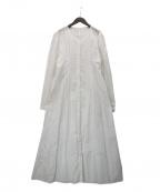 merlette(マーレット)の古着「CLARENDONアイレットタックドレス」 ホワイト