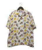 son of the cheese(サノバチーズ)の古着「オープンカラーシャツ」|イエロー
