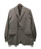 LARDINI()の古着「3Bジャケット」|ブラウン
