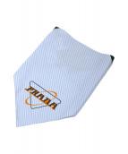 PRADA(プラダ)の古着「Oxford cotton scarf」|ホワイト×ブルー
