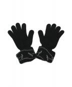 HERMES(エルメス)の古着「Hロゴロングニットグローブ」|ブラック