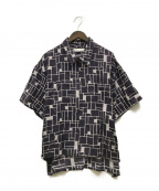 ETHOSENS(エトセンス)の古着「柄ジップシャツ」|パープル