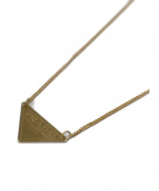 PRADA(プラダ)の古着「トライアングルゴールドネックレス」|ゴールド