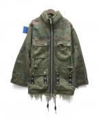 DIESEL()の古着「Panelled field jacket」|グリーン