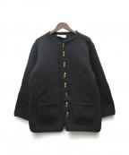 INVERALLAN(インバーアラン)の古着「ニットカーディガン」|ブラック