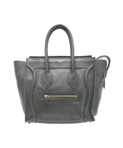CELINE(セリーヌ)CELINE (セリーヌ) ラゲージマイクロショッパー ブラック F-AT-0151の古着・服飾アイテム