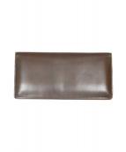 土屋鞄(ツチヤカバン)の古着「コードバン長財布」|ブラウン