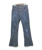 ()の古着「フレアデニムパンツ」|インディゴ
