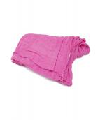 ASAUCE MELER(アソースメレ)の古着「リネンストール」|ピンク